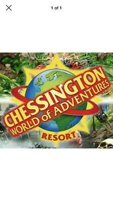 2 X Chessington World Of Adventures Tickets Wednesday 22nd  May, 2019