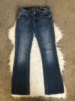 275fbd5039c Women's Miss Me Bootcut Jeans Size 27 Inseam 30 Inches Bling Rhinestones