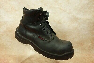Redwings King Toe Black Leather SafetyToe Electrical Hazard Work Boot Mens 11.5D
