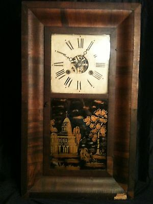 Antique OGEE Clock Black And Gold Building Look! Morse & Co. Plymouth Hollow?