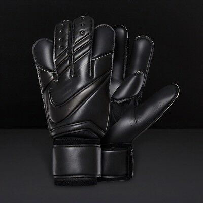 Nike GK Vapor Grip 3 Goalkeeping Gloves Triple Black Size 6 GS0347-011