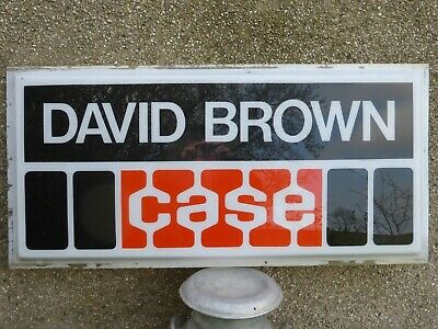 DAVID BROWN Case Tractor Dealers Sign Panel