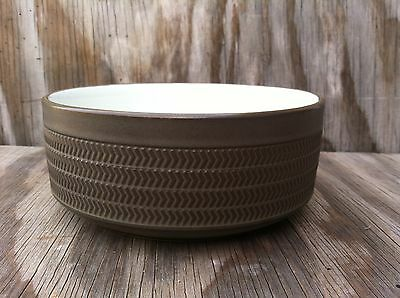 Denby Langley Camelot Large Serving Bowl Forest Green & White Stoneware England