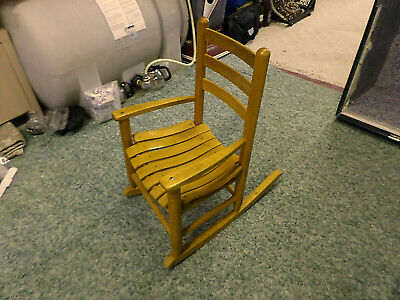 3102M Vtg Antique Child's Wood Rocking Chair Golden Oak Rocker EXC CONDITION !!