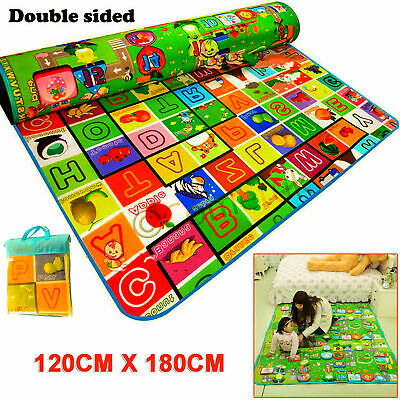 2 Side Baby Mat Kids Crawling Educational Play Soft Foam Baby Carpet 1200X180Cm