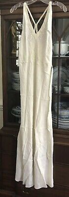 VINTAGE FLAPPER LINGERIE- CIRCA 1920-30's, LADIES SILK NIGHTGOWN, Hand SewnCHINA