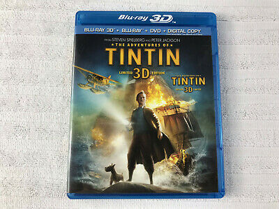 The Adventures of Tintin BLURAY - 3D - PRE-OWNED