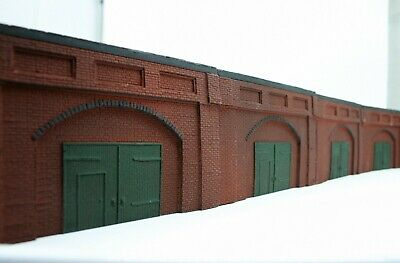 4 X Detailed Model Railway Retaining Wall With Workshop For HO/ OO Plaster New