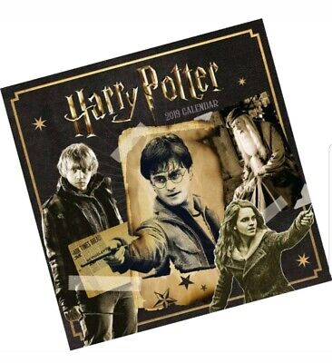 Harry Potter Official 2019 Calendar - Square Wall Calendar Format collectible uk