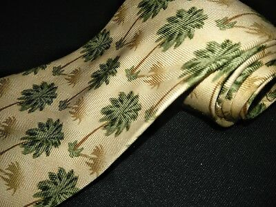 947bad3121f3 Tommy Bahama Tie Yellow Palm Tree Prints Wide Tropical Designer Luxury  Necktie