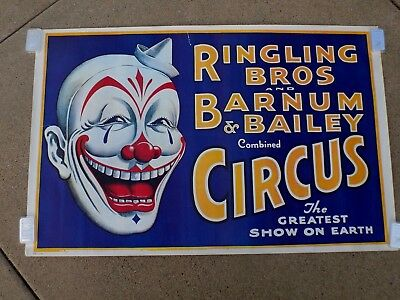 16x24 Rooster /& Musical Donkey Circus Poster Barnum /& Bailey Performing Geese