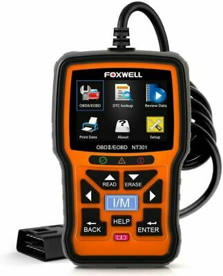 FOXWELL NT301 OBD2 Scanner Professional Enhanced OBDII Diagnostic Code Reader