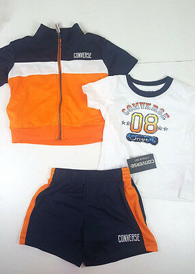 * NEW BOYS 3PC Converse Shirt Jacket /& Short SUMMER OUTFIT SET 12M 18M 24M WOW!
