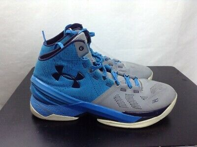 baa1e41e021ad used Curry 2 Under Armour Mens size 10.5 Electric Blue Midnight Navy Grey