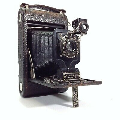 KODAK No. 1 Autographic Junior Folding Camera with Leather Case & Instructions