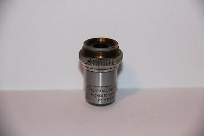 BAUSCH & LOMB B&L MICROSCOPE DIVISIBLE OBJECTIVE LENS ~ 10X 16mm 0.25 ~ VL9245