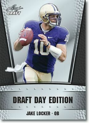 100 JAKE LOCKER 2011 LEAF Draft Day Football RC LOT Verzamelkaarten: sport