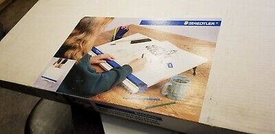 "Staedtler Parallel Straightedge Drawing Board 999 2436DB 24"" X 36"" original box"