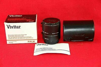 NEW ~ VIVITAR AT-22 36mm AUTOMATIC EXTENSION TUBE SET for PENTAX CAMERA P/K M