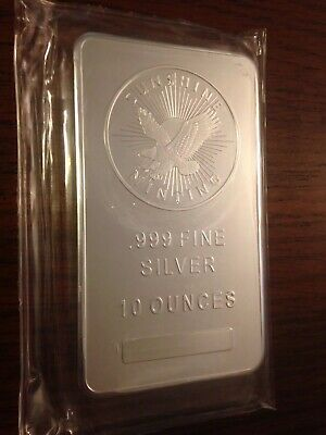 10 oz. Silver Bar - Sunshine Minting - .999 Fine