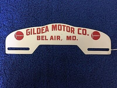 Gildea Motor Company Studebaker Dealership License Plate Topper Bel Air, MD