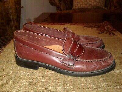 747f0acc6ca Women Bass Weejuns Brown Burgandy Leather Penny Loafers Shoes 6.5 M Katherine  II