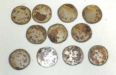 Lot of 10 Circle Moon Geometric Shape 1.5 Inch Rusty Metal Vintage Craft Stencil