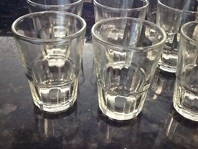 8 pc Shot Glasses Glass Barware,Shots drink aguardiente rum gin vodka 1.5 oz