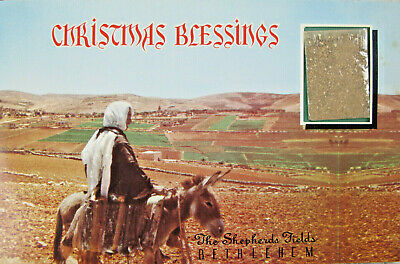 Shepherds Fields Bethlehem Christmas Blessing Real Holy Land Soil Greeting Card