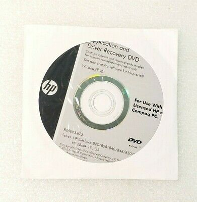 APPLICATION AND DRIVER Recovery DVD, HP ELITEBOOK Laptop 820
