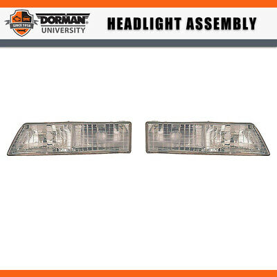Pair Left Right Headlight Embly Dorman For 95 97 Mercury Grand Marquis