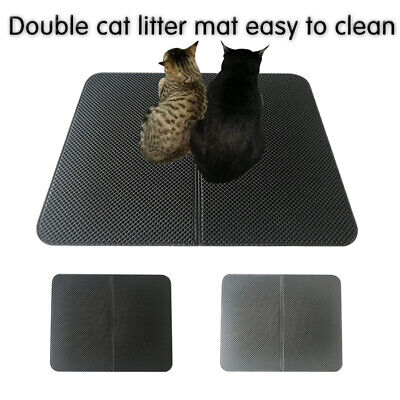 Double-Layer Cat Litter Mat Trapper Foldable Waterproof Pad Pet Rug Foam Rubber