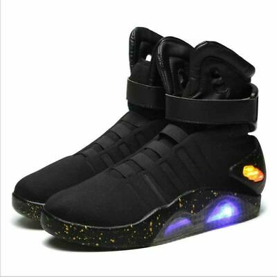 BACK TO THE FUTURE WARRIOR Sneaker BASKETBALL Casual LED LIGHT SHOES KEY CHAIN