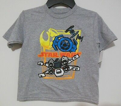 Star Wars NEW Boys 4T T-shirt Graphic Tee NWT Tags Toddler Rebels X-Wing Empire