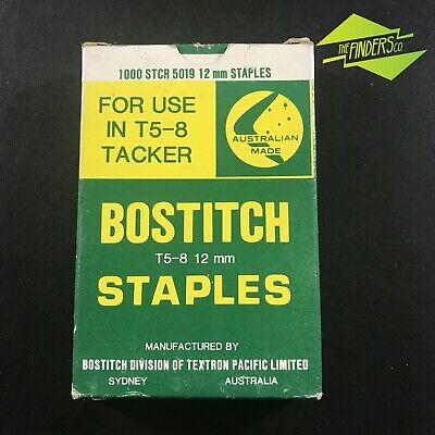 New Old Stock Box 1000 Bostitch 12Mm Staples T5-8 Tacker Made In Australia #3