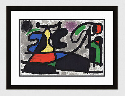 "Exciting Original Joan MIRO 1970 Lithograph ""Sculptures"" Framed AUTHENTIC COA"