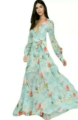 f29fa93b7a Yumi Kim Giselle Maxi Dress Long Maxi Forever Yours Jade Floral Size XXS