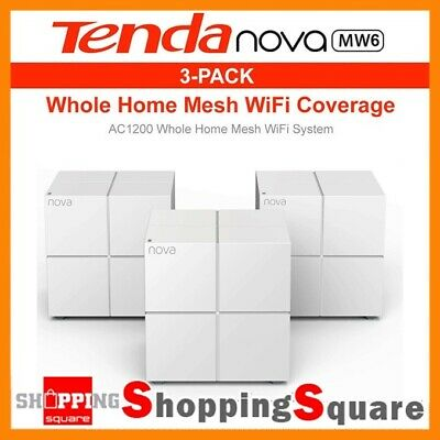 Tenda Nova MW6 AC1200 Whole Home Mesh WiFi System Router Lan Ethernet White
