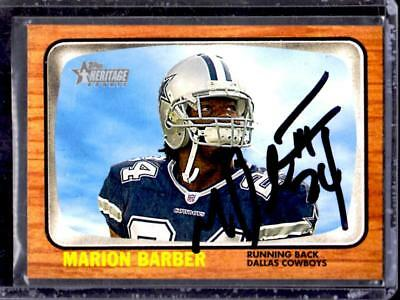 2005 Topps Heritage Dallas Cowboys MARION BARBER AUTOGRAPH ROOKIE Card with COA