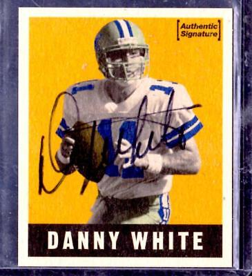 1997 Leaf Dallas Cowboys DANNY WHITE AUTOGRAPH Card numbered on back. AUTHENTIC!