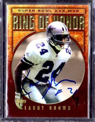 2002 TOPPS ROH Dallas Cowboys LARRY BROWN SB 30 MVP AUTOGRAPH Card with COA