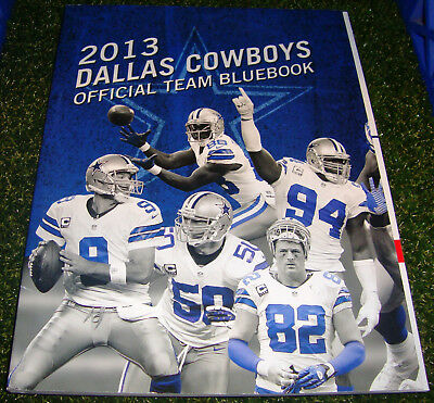 2013 The Official DALLAS COWBOYS Bluebook - FOLD OUT COVER - ROMO WITTEN DEZ LEE