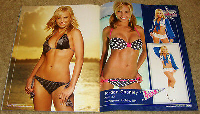 9/12/09 DALLAS COWBOYS Magazine SEXY SWIMSUIT BIKINI Cheerleader JORDAN CHANLEY