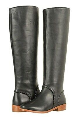 25b717c6870 UGG GRACEN WHIPSTITCH Black Leather Knee High Tall Riding Boots Size ...