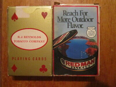 Vintage Red Man Playing Cards The Pinkerton Tobacco Co 1991 Promo Item NEW
