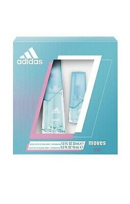 pretty nice 108d9 8c91e Adidas Moves for Her Gift Set Women 1.0 fl oz Spray and 0.5 fl oz Natural