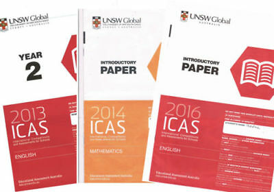 ICAS past papers year 3 Maths (8 in total bulk lot sale with answers)