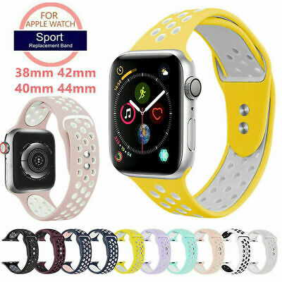 UK Fitness Silicone For Apple Watch 4321 Sport Watch Band Strap iWatch 40mm 44mm