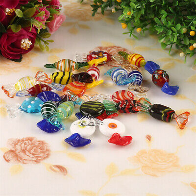 10/20pcs Vintage Murano Glass Candy Sweets Wedding Xmas Party Decoration Gift