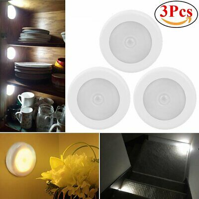 3pcs 6LED Lámpara Luz Nocturna de Pared con Sensor de Movimiento Armario Casa